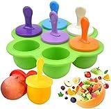 HelpCuisine® Moldes de silicona para helados, moldes para helados, reutilizables, moldes de silicona