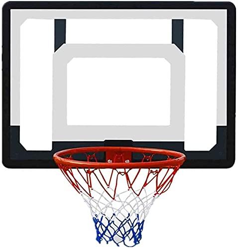 LYYJIAJU Aro Baloncesto Muro Montado Tablero de Baloncesto Hoop Montado en la Pared Sports Baloncesto Hoop, Anillo de Canasta Diámetro 38cm Uso al Aire Libre for Adultos y niños