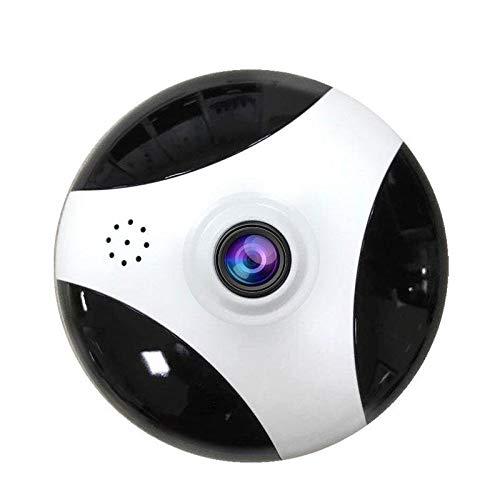 AA pet camera IP-Kamera Wireless WiFi Indoor-Überwachungskamera 360-Panorama-Loop-Aufnahme, Zwei-Wege-Audio, Bewegungserkennungsalarm, Weiß + Schwarz-3MP (Brennweite 2,8 mm)