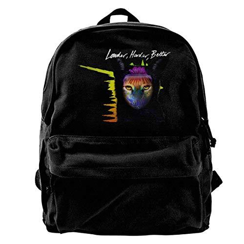 Yuanmeiju Fashion Canvas Backpack Galantis Black Canvas Backpack Girls Unisex Fashionable Canvas Backpack School Teens Girls Students Casual