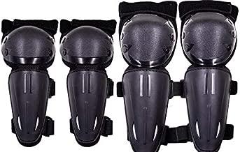 Seahouse Kids Dirt Bike Knee Elbow Pads Shin Guards Youths Protective Gear Set 4 pcs