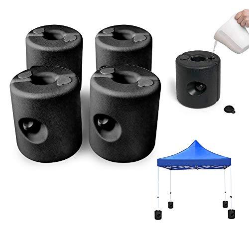 wolketon Set de 4 Pieds pour tonnelle 20-40mm, Remplissable avec du Sable ou de l eau, PEHD Poids pour pavillon la Fixation stabilisation de gazebos Chapiteaux pour tentes de Jardin