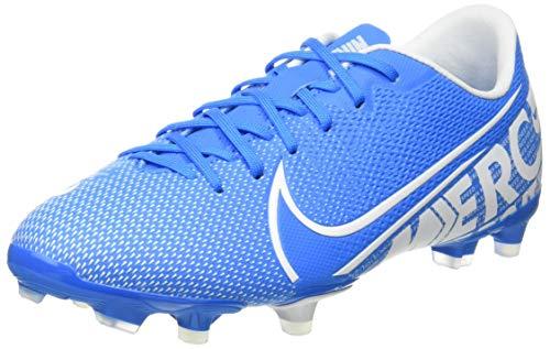 Nike JR Vapor 13 Academy FG/MG, Botas de fútbol Unisex Adulto, Multicolor (Blue Hero/White/Obsidian 414), 37.5 EU