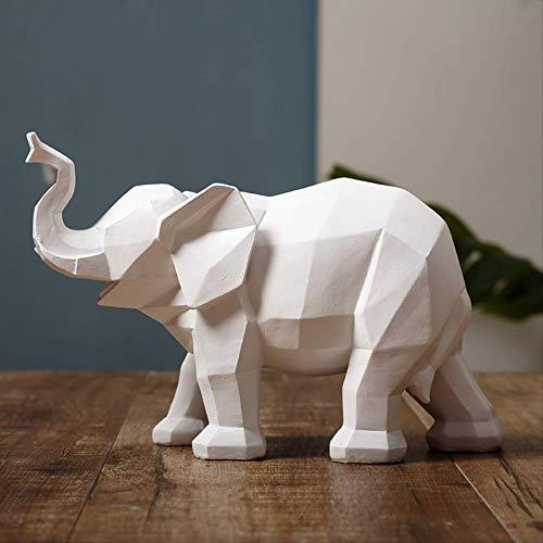 DOUYA Objetos Decoracion Modernos Adornos De Elefante Blanco Minimalista Moderno Nórdico Creativo Hogar Geométrico Origami como Decoración Animal