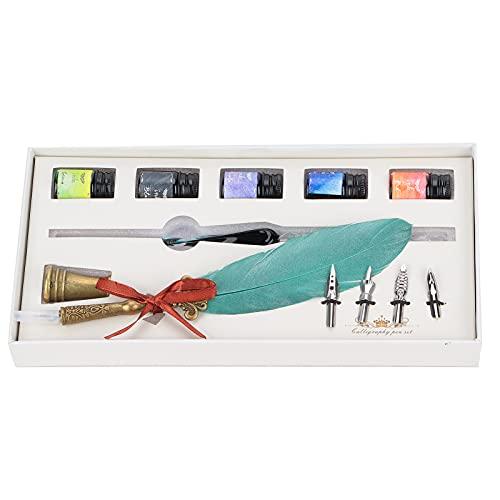Lantuqib Juego de bolígrafos de caligrafía, bolígrafo cómodo de sostener para Que los Amigos practiquen la caligrafía como Regalo para Escribir(SP118043 Nacarado Verde Oscuro, Animales Polares)