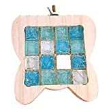 LEUM SHOP Pequeña mascota de madera pedal de hámster piedra de cristal de refrigeración almohadilla de tablero de la jaula de adorno color madera