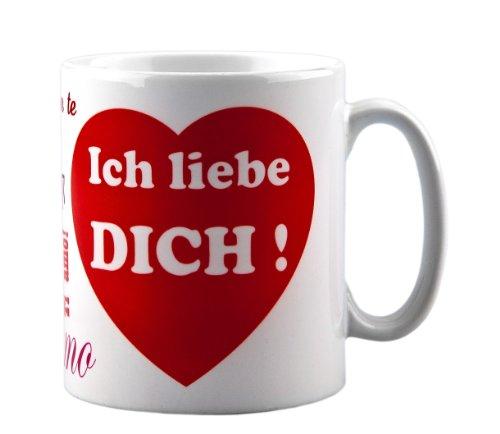 Tasse ich liebe dich - mit Aufdruck - ideale Geschenkidee als Kaffeetasse z.b. für Männer oder Frauen als Geschenk zum Geburtstag oder Valentinstag