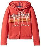 Lucky Brand Little Girls' Long Sleeve Zip Up Hoody, Charter Cranberry, 4/5