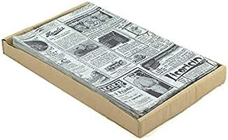 Hostelnovo - 500 Stück Fettpapier zum Verpacken von Lebensmitteln, Einzelmaß 32 x 20 cm, speziell für Pommestüten und...