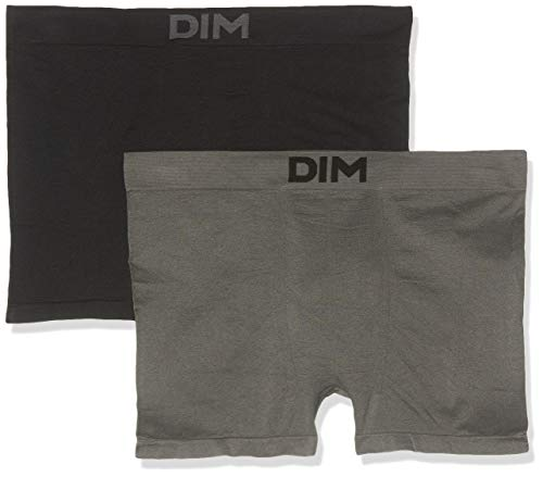 UNNO Sin Costuras Pack X2 Dim Basic Bóxer, Gris (Negro/Gris Oscuro 3b7), XX-Large (Tamaño del...