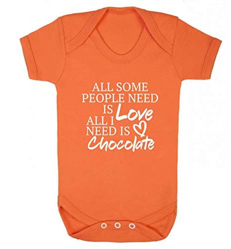 Flox Creative Baby Weste Some People Need Love I Need Chocolate Gr. 6-12 Monate, Orange
