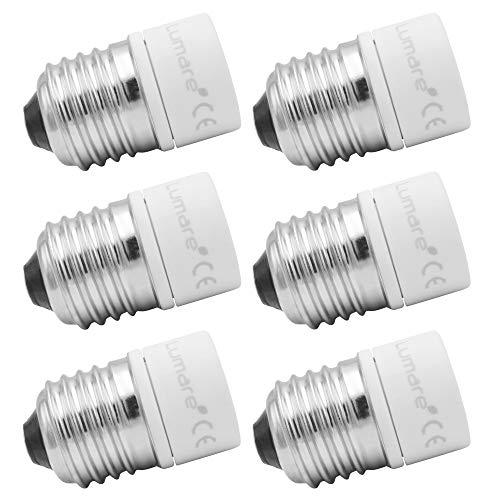 Lumare Lampensockel Adapter von E27 auf GU10 Leuchtmittel Fassung Ultra Slim Keramik 6er Set…