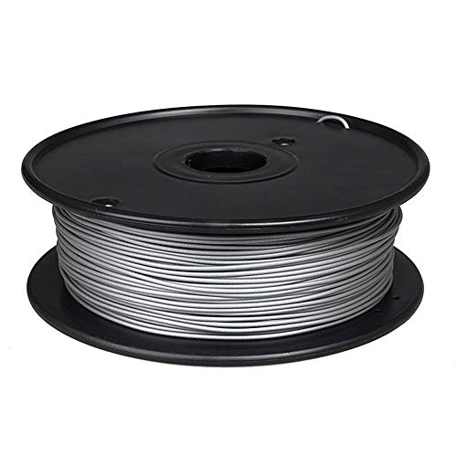 Filamento per stampante 3D 1,75 mm, filamento metallico PLA 0,5 kg, polvere metallica aggiunta, struttura metallica-Alluminio