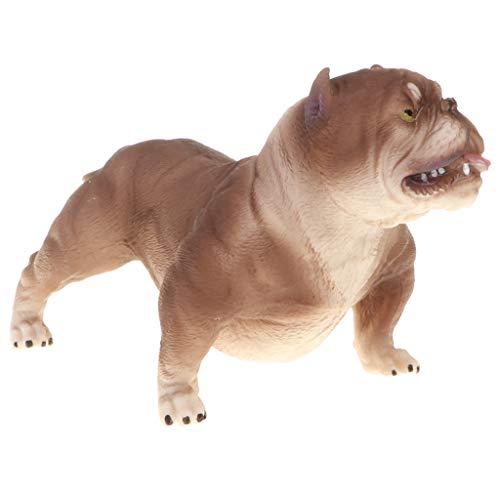 NON Figura De Modelo Animal Realista Figura De Perro De Juguete Decoración para El Hogar Shiba Inu - American Bully Pitbull #B