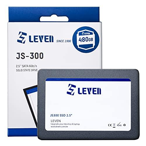 LEVEN SSD 480GB SATA III 6Gb/s, 2.5 Zoll/ 7mm (0.28''), Interne Solid State Drive - bis zu 500 MB/s - passend für Laptop & Desktop – (JS300SSD480GB)
