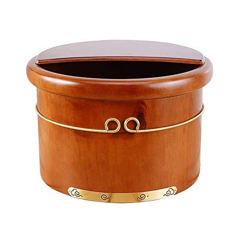 Pediluvio CYLQ voetenwarmer met afdekking voor voetbad wooder, pedicure van massief hout en robuust met vaas, barile Di sauna voor het Domestisch inweken voeten en pijn 25 C