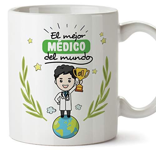 MUGFFINS Taza Médico/Doctor - El Mejor Médico del Mundo - Regalos Originales de Hospital/Centro de SaludMédico del Mundo - Cerámica 350 ml