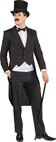 Karneval-Klamotten Frack Herren Kostüm schwarz Herrenfrack schwarz Karneval Silvester Herren-Kostüm