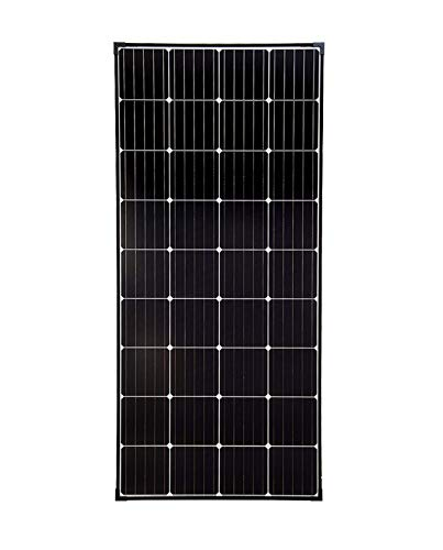 enjoy solar® Mono panel 180W 12V tecnología de celda PERC solar monocristalino de módulo solar con marco negro