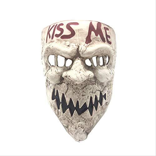 YKZZLDX Mscara de Terror de Halloween Proyecto de autorizacin Humana Kiss Me Mask Accesorios de Cosplay