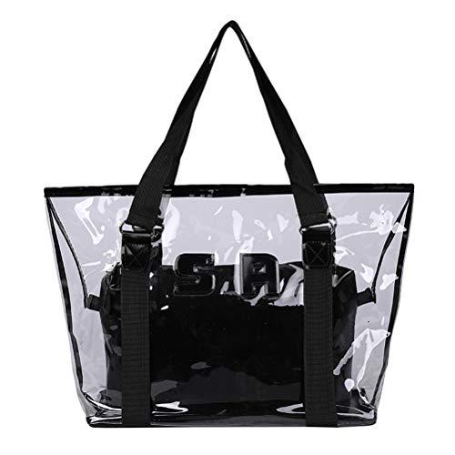 Hihey Strandtasche Sommermode Freizeit Transparente PVC Umhängetasche Handtaschen Große Tasche Luxus Handtaschen