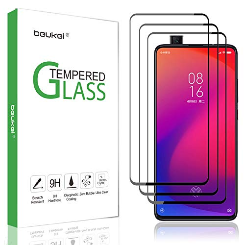 Price comparison product image (3-Pack) Beukei for Xiaomi Mi 9T / Xiaomi Mi 9T Pro Screen Protector Tempered Glass, Glass with 9H Hardness, with Lifetime Replacement Warranty