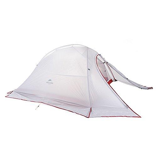 NatureHike Cloud-up Ultra légère 2 personnes Double couche Tente Tente de randonnée 4 saisons, Gray with Snow Skirt(20D nylon coated silicone)