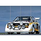 CARS AUDI QUATTRO S1 SPORTS RALLY CAR HUGE POSTER PLAKAT