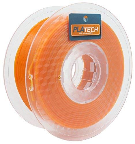 FFFworld 250 g PLA Tech 1,75 mm - Filamento PLA 1,75 con bobina di precisione Optiroll - Pla Filament Arancio