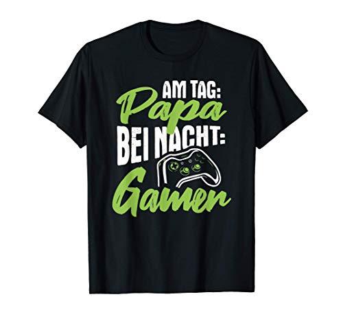 Herren Gaming Gamepad Zocken Gamer Games Spielen Zocker Videospiel T-Shirt