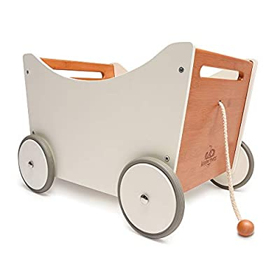 Kinderfeets, Toy Box, 2-in-1 Toy Storage and Walker with Bamboo Accent, Convenient and Classy Design