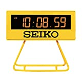 セイコークロック 目ざまし時計 黄色 93×104×45mm デジタル ミニタイマークロック SQ815Y
