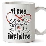 MUGFFINS Tazza San Valentino (Ti amo) - ti amo all'infinito ed oltre - Idee Regali Anniversario...