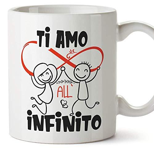 MUGFFINS Tazza San Valentino (Ti amo) - ti amo all'infinito ed oltre - Idee Regali Anniversario Originali per Lui/per Lei/Ragazzi/Fidanziati