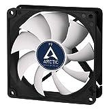 ARCTIC F9 - 92 mm Standard Gehäuselüfter, extrem leiser Lüfter, Case Fan mit Standardgehäuse, Push- oder Pull Konfiguration möglich, 1800 U/min. - Schwarz/weiß
