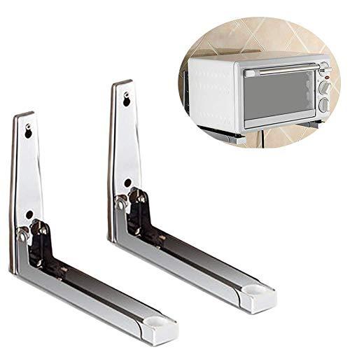 ZGQA-GQA Soporte de estante Soporte para el hogar de acero inoxidable de acero inoxidable, colgador de estiramiento plegable, soporte de estante de 2 piezas Carga máxima de carga 75 kg (tamaño: 45 * 2