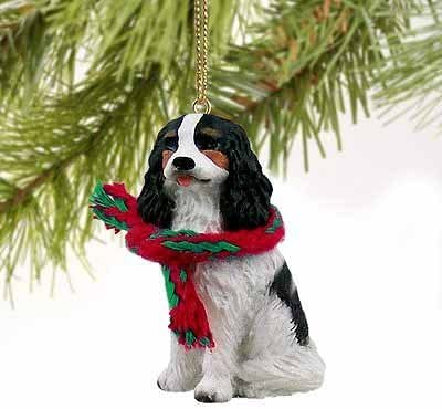 Amazon Com 1 X Cavalier King Charles Spaniel Miniature Dog Ornament Tri Color Home Kitchen