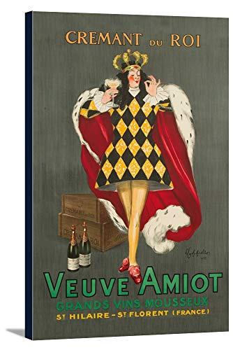 Veuve Amiot - Cremant du Roi Vintage Poster (artist: Leonetto Cappiello) France c. 1922 (16x24 Gallery Wrapped Stretched Canvas)