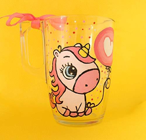 Personalized, Mug, Unicorn mug, Cup, Glass, Painted, Gift, Girl, Water, Party