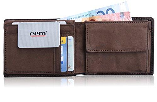 EEM con MATTEO in vellutato, europeo in pelle porta carte di credito a portafoglio