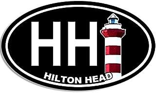 American Vinyl Oval HH Hilton Head Island Lighthouse Sticker (South Carolina sc hhi)