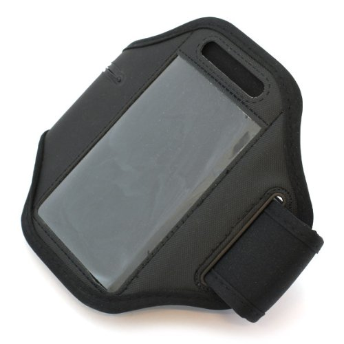 Hülle, Sportarmband, Armtasche, Handytasche, Oberarm-Tasche, Arm Hülle, Hülle in schwarz für Apple iPhone 3 / 3G / 4 / S, BlackBerry 9105 Pearl / Pearl 8100 / Pearl 8110 / Pearl 8120, HTC 7 Mozart / 7 Trophy / Desire S / Legend A6363 / Magic / Radar / Rhyme / Touch Diamond 2 / Touch Pro / Wildfire, Huawei G6603 / G6608 / U8650 Sonic / U8850 Vision, LG GD880 mini / KE970 Shine / KF600 / KM570 / KU800 / GC900 Viewty / GW 300 / KB770 / KF900 Prada / KM900 Arena / KP500 / LT 320 Cookie Lite / Optimus Hub E510 / Optimus Net P690 / Handyhülle, Schutzhülle für Sport & Joggen