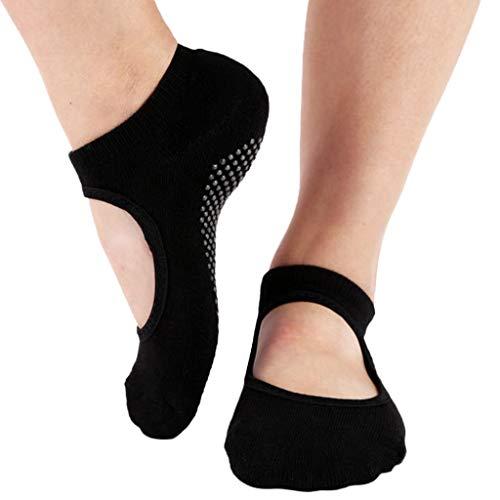 strümpfe damen Liusdh,Tanzsport Yoga Pilates rutschfeste Griffe Ballett kurze Socken(C,Freie Größe)