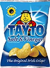 Tayto Salt and Vinegar Flavour Crisps from Ireland 25 x 25g packs