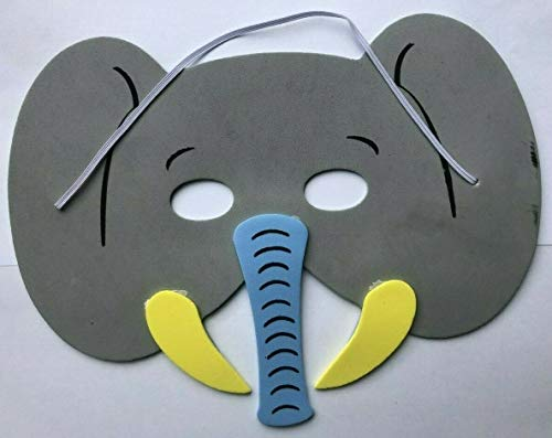 Mask Zoo Animal Elephant (Soft Foam) for Fancy Dress Masquerade Accessory by Playwrite