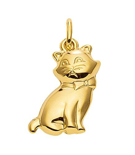 Kinder Gold Anhänger Katze 14 k 585 Gelbgold