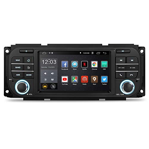 XTRONS 5' Auto Touchscreen Autoradio Auto Multimedia Player mit Android 10.0 Quad Core Multimedia Player Voll RCA Ausgang WiFi 4G Bluetooth 2GB RAM 16GB ROM OBD2 FÜR Chrysler/Jeep/Dodge