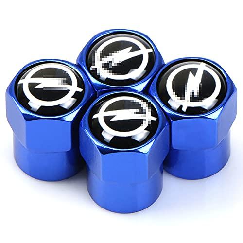 Tapas de válvula de neumático de rueda de tapa de polvo de aleación de metal para coche 4 Uds para Opel Astra H G J Insignia Mokka Zafira Corsa Vectra C D, accesorios de estilo de coche