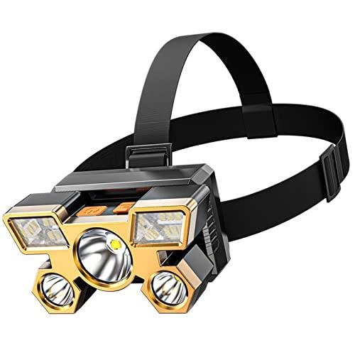 Linterna Frontal Led Recargable, Lámpara De Cabeza 90° Giratorio 1000LM Linterna Frontal De Trabajo 4 Modos De Luz IPX6 Impermeable Linterna De Cabeza para Ciclismo Correr Deportes