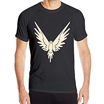 Maverick Bird Gold Logan Paul Quick-Dry Shirt Men Round Collar T-Shirt Short-Sleeved T-Shirt